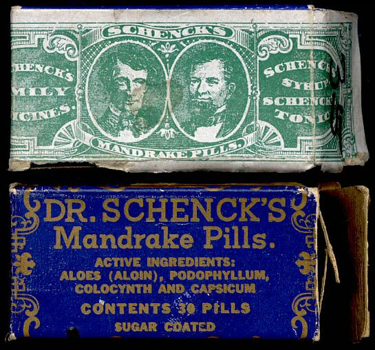 By Schenck And Company: A Package Of Dr. Schenck's Mandrake Pills With A Facsimile