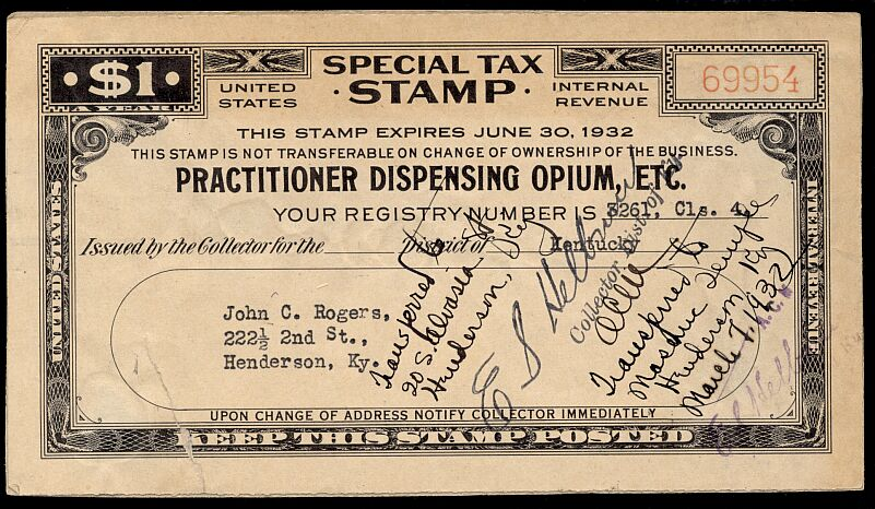 special tax stamp alcohol tobacco